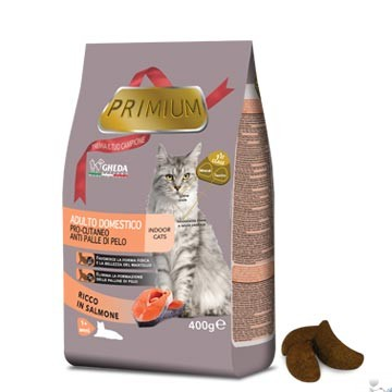 Primium – ADULTO DOMESTICO pro-cutaneo anti palle di pelo | Secco