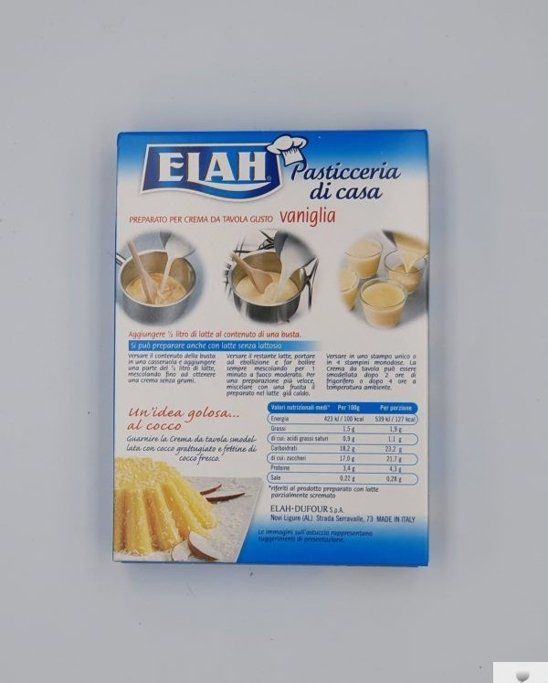 Elah - Preparato per Crema da Tavola, Gusto Vaniglia